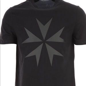 NeIL Barrett Short Sleeves Crew Neck Black TShirts